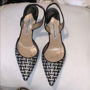 Manolo blahnik pointy high heels